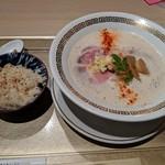 106325375 - 鶏白湯とろり・鯛めし(小)