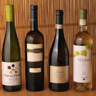 豊富なワインに日本酒・焼酎◆天ぷらとのペアリングをご堪能あれ
