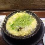 キンペイ - 厚岸牡蠣と三つ葉の卵とじ850円