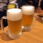 大衆酒場 北海 - 生ビール380円