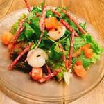海老とパクチー、ナンプラーのミラノサラダ