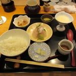 106338932 - 鯛刺身ごまだれ茶漬け (お抹茶、甘味つき) 1500円