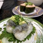 おんまく寿司 - 料理写真:しらすの後ろはえびとろ