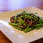 中国菜 智林 - 金針菜と鹿肉の炒め