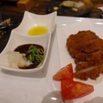 和食 縁 蕎麦切り - 熟成豚ロースのとんかつ