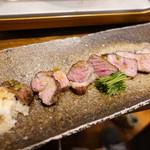 和食 縁 蕎麦切り - 熟成肉・国産豚ロースのゆず胡椒炭火焼き