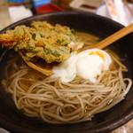 和食 縁 蕎麦切り - 桜海老と菜の花の月見蕎麦