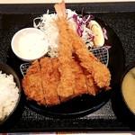 松のや - ロースかつ&海老フライ定食