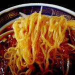 江ざわ - 麺に辣油が絡む