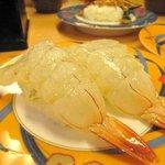 活魚寿司 - デカイです。  ここから後は、妻と半分わけ。