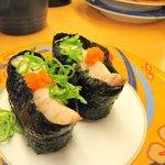 活魚寿司 - 半分わけ。