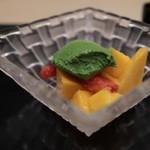 味あら井 - 苺とマンゴー、抹茶ババロア