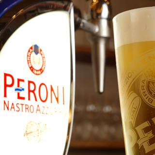 ピッツアと一緒にイタリアの生ビール&ソフトドリンクもどうぞ!
