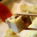 """旨い料理・旨い酒 じょうじ - 再再訪""""レンコンの天ぷら。この分厚さが美味しく食べれる秘密なんです♪"""