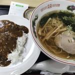 笹屋 - カレーセット(ラーメン+小カレーライス)(750円)