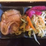 106390262 - お惣菜各種                       柚子風味のイカの塩辛、天之漬け、モヤシのナムル、しば漬け