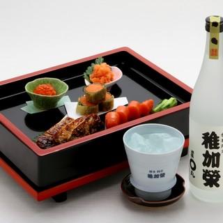 至福の生ビールに、オリジナル限定酒【稚加榮】もご用意。