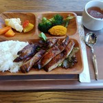 Green cafe ACB - ランチプレートチキン