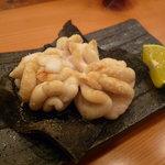 森しげ - ☆鱈の白子焼きは昆布にのせて酢橘でパクリ(^v^)塩加減最高!!☆