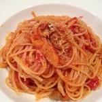 10640976 - 若鶏とパプリカのトマトソース パヴェッティーネ