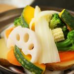 キリンビアホール 麦 - 蒸し野菜