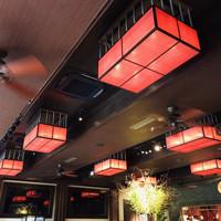 THE FUJIYA GOHONJIN-ダイニングスペースの照明