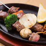 炭火焼きステーキ 肉押し - 肉串