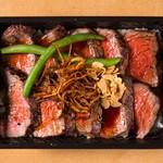 炭火焼きステーキ 肉押し - 弁当
