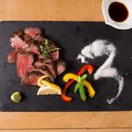 炭火焼きステーキ 肉押し - 国産牛