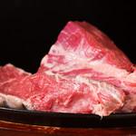 炭火焼きステーキ 肉押し - 生肉