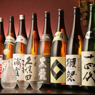 日本各地から取り寄せた厳選地酒