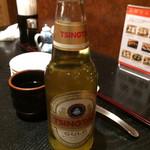 JASMINE 和心漢菜 - 「プレミアム青島ビール」! 昔のイメージとは違う一瓶です。