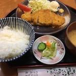 ミートピア - 豚ロースカツ定食   750円