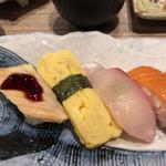 海鮮なごみ屋 - 穴子、玉子、カンパチ、サーモン