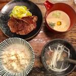 牡舌亭 - 牛舌定食 1,580円