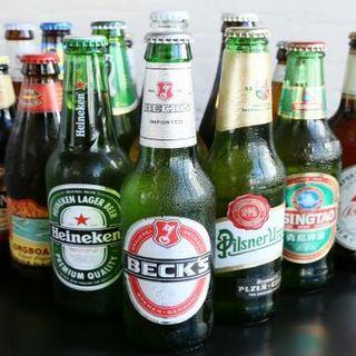 当店自慢の世界各国のビールの数々★ワインやカクテルも豊富◎