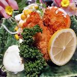 10646249 - 寒ブリ入り七種刺身とブリ大根,カキフライ御膳