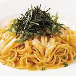 ウニと明太子のスパゲティ