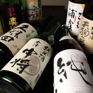 各地の日本酒・地酒を厳選。常時25~30種類を取り揃え