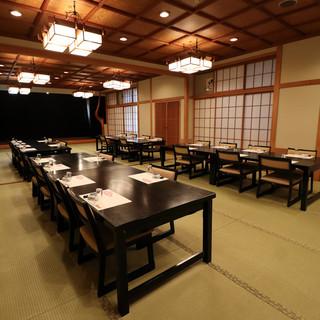 店舗2階~4階には完全個室の宴会場を大小合わせて11室ご用意