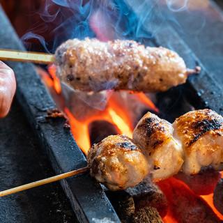 """福島ブランドの""""伊達鶏""""を使用◎備長炭で丁寧に焼き上げます"""