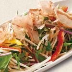 二種水菜と大根のサラダ