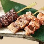 銘柄肉三種串焼き(つくば鶏・瑞穂芋豚・常陸牛)
