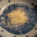 たがだ屋 - 料理写真:三陸野田産天然塩 のだ塩使用「北限の ゆず塩」