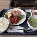 焼肉 おうじゅう - 料理写真:執念のとろタン塩と牛サガリ定食