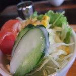 むた珈琲館 - 新鮮サラダ
