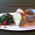 オリゾンテ - サラダ・スープ・フォカッチャ