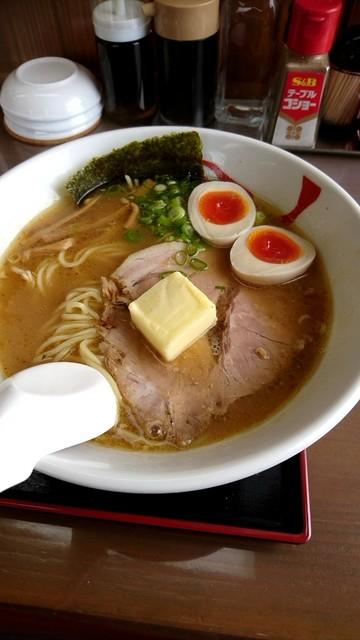 天日地鶏 - 赤みそバターらーめん870円