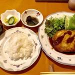 びすとろ 風露 - 今日のランチ ◆豚ロース・ミルフィーユチーズ焼きカツ 1000円