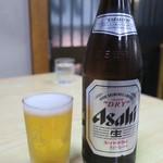 支那そば けん - ビール(600円)